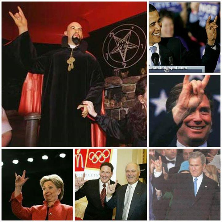 satanic signs and famous politicians