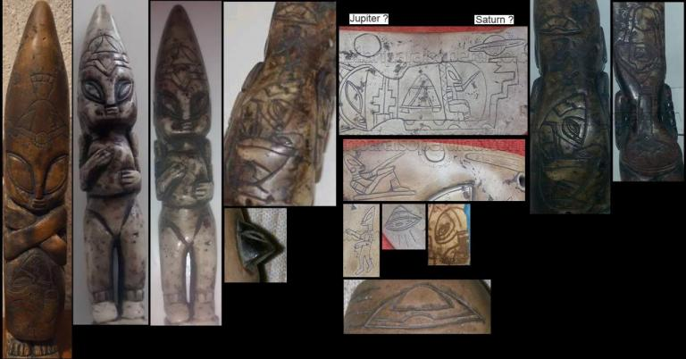 aliens & UFO graved on mayan artefacts