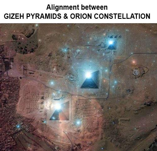 Pyramids-alignment with constalations