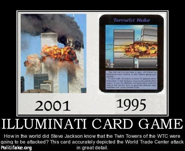 ILLUMINATI CARD GAME CREATED IN 1995