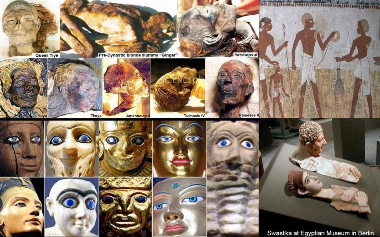 blue eyes ancient civilisations