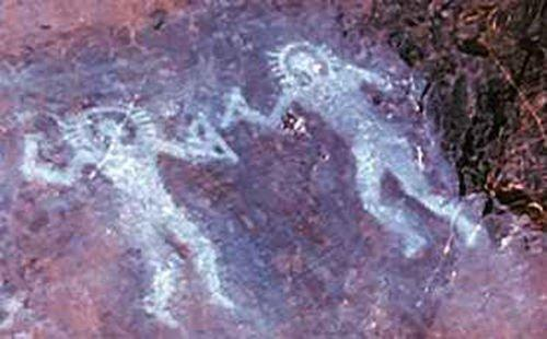 Cave painting-val carmonica italy- 10 000 BC