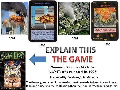 illuminati game card from 1995