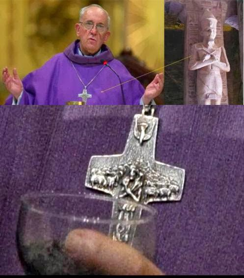 Pope and pharoa symbol