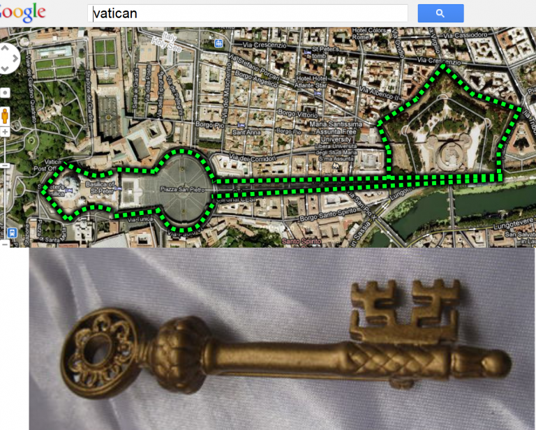 vatican-key city map