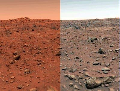 Mars real colors